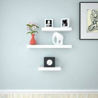 Floating shelf 40x25cm Rak Dinding Tempel TV DVD Modern Minimalis