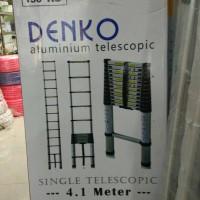 Jual TANGGA TELESCOPIC DENKO 4,1METER / TANGGA TELESCOPIC SINGLE 4,1 METER Murah