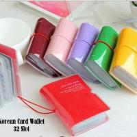 Jual Korea Card Wallet 32 Slot Dompet Kartu Plastik Ungu Murah