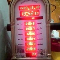 Jam Digital Waktu Sholat Adzan Al-Pigeons AZ-4009 Termurah.