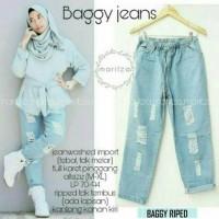 Jual Baggy jeans sobek rb Murah