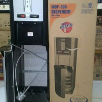 Dispenser tinggi Miyako galon bawah WD 300 panas, normal, dingin