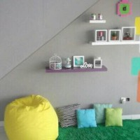Floating shelf 60x15 Rak Dinding Tempel TV DVD Modern Minimalis