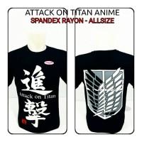 Jual kaos oblong attack on titan Shingeki no Kyojin anime aot snk Murah