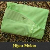 Jual jilbab instan serut anak sekolah Size S bahan kaos PE hijau melon Murah