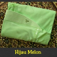 Jual jilbab instan serut anak sekolah Size M bahan kaos PE hijau melon Murah