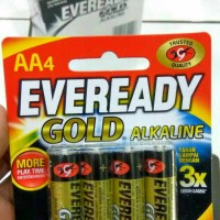 Baterai / Battery AA isi 4 Eveready Gold Alkaline