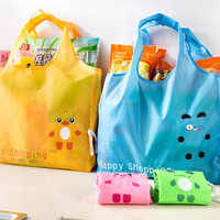 Jual tas belanja karakter transparan dari plastik bisa dilipat - hhm096 Murah