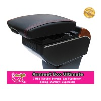 Armrest Box Ultimate Nissan Juke 7 USB Led Double Storage