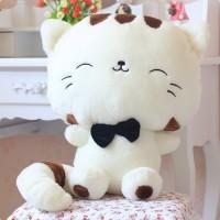 Jual Boneka Kucing Putih 45cm Boneka Kucing Keberuntungan Cat Doll Murah
