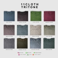 Jual (SIZE M) Kaos Polos Misty Tritone - Cotton Combed 30S Murah