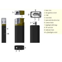 Spy Camera Lighter Full HD 1080p Korek Api 2 In 1