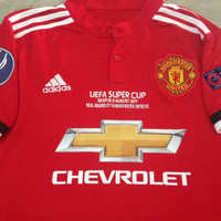 Jual JERSEY MANCHESTER UNITED HOME FULL PATCH SUPER CUP FINAL 2017 Murah