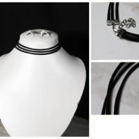 Jual M10836 Triple choker necklace 02 KODE QE10836 Murah