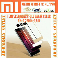 Xiaomi Redmi 4 Prime anti gores kaca film Full layar Redmi4 pro Hp Tem