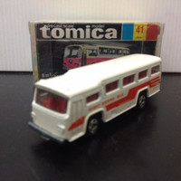 Tomica blackbox made in japan Fuji Semi-Decker Type Bus