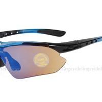 Jual Kacamata Rockbros sepeda untuk gowes warna biru motor, TERLARIS Murah
