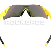 Jual Kacamata Rockbros sepeda untuk gowes warna kuning motor TERLARIS Murah