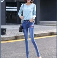 Jual Baju Fashion Import Murah Celana Jeans Skinny Wanita A30391 Murah