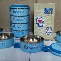 Jual Lunch Box Rantang 4 susun Doraemon / Hello Kitty / Tempat Makanan Murah