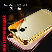 Jual FREE TEMPERED GLASS Aluminium Bumper Metal Casing MIRROR Cover Case FO Murah