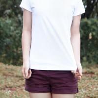 Kaos Kuyaku Kaos Polos Premium Wanita Cotton Combed 30s - Putih