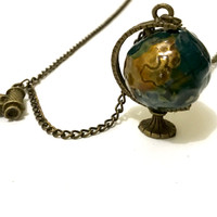 Jual Kalung Globe Bola Dunia Teleskop Vintage Etnik Panjang Korea I  Murah