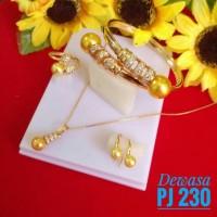 Jual set perhiasan dewasa lapis emas Murah
