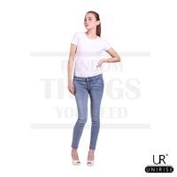Jual Unirise Denim Soft Skinny Jeans Stone Grey Murah