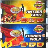 Jual Paket Lengkap Tor Blade Antler Goat / Thuner Wolf - Gasing Petarung Murah