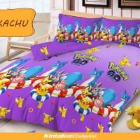 Jual Bedcover Set Kintakun D'Luxe Uk.180 X 200 Motif Pikachu Murah