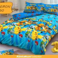 Jual Bedcover Kintakun D'Luxe Uk.180 X 200 Motif Pokemon Go Murah