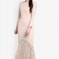 Jual Pakaian Wanita: Dress Zalia Sequins Pieced Mermaid Dress Evening Dress Murah