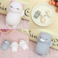 Jual Mainan Squishy Cat Toy Free Box+Lem Bisa Tempel di Case Squishy Casing Murah