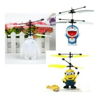 Jual Flying heli / helicopter Toy Mainan Anak Terbang Minion Doraemon Murah