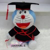 Jual Boneka Wisuda Doraemon 30 cm/Boneka Doraemon Wisuda Unik Anime Jepang Murah