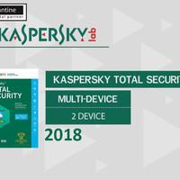 Kaspersky Total Security / Pure 2018 2 Pc 1 Tahun