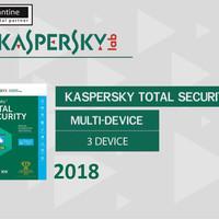 Jual Kaspersky Total Security / Pure 2018 3 Pc 1 Tahun Murah