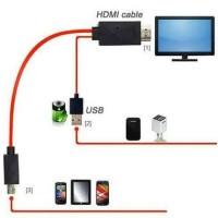 Kabel MHL HDTV / kabel dari hp ke tv / Kabel Hdmi HDTV 11pin Micro USb