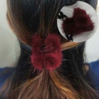 Jual Jepit Jepitan Rambut Bulu Aksesoris Fashion Import Real Mink Hair Clip Murah