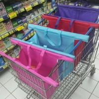 Jual trolley troley troli supermarket bag set tas belanja sh Premium Murah