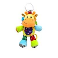 Jollybaby - mainan boneka tarik musik bayi - giraffe