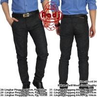 AA05 Celana Formal Panjang Chino Pria Murah bahan Wool Black