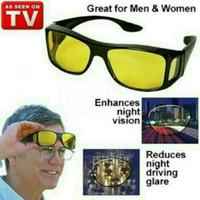 Jual Promo ! kacamata hd vision sunglass 1 box isi 2 pc kuning semua Murah