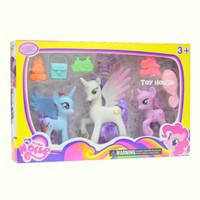 Jual DISKON Figure Little Pony Isi 3pcs No. 201 - Mainan Anak Perempuan Murah