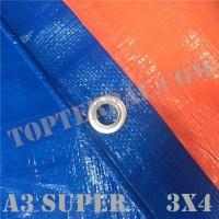 Terpal Plastik A3 SUPER Ukuran 3x4 meter Murah