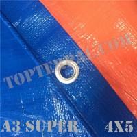 Terpal Plastik A3 SUPER Ukuran 4x5 meter Murah
