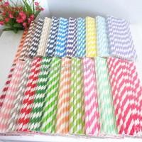 Jual Sedotan / Paper Straw Stripe Murah