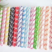 Jual Sedotan / Paper Straw Polkadot Murah
