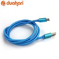 Kabel Data Type C / USB Tipe C / Charger Handphone Type C - BLACK